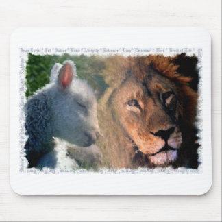 Lamb & Lion Mouse Pad