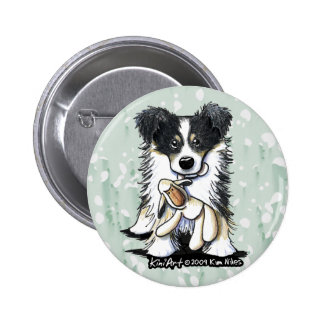 Lamb Lover Border Collie Button