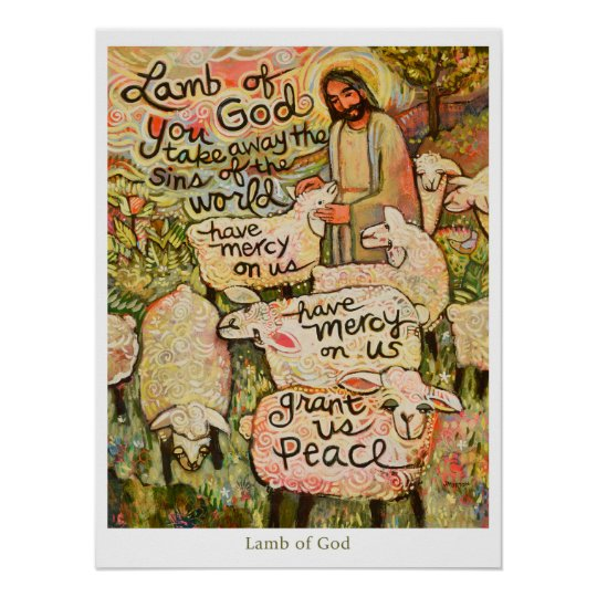 Lamb Of God 18x24 Quot Poster Zazzle Com
