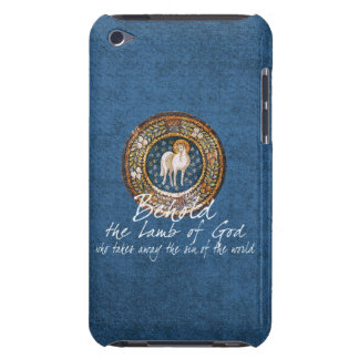 Lamb of God Byzantine Christian Icon on Blue iPod Touch Case