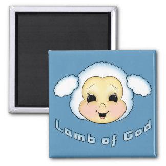 Lamb of God 2 Inch Square Magnet