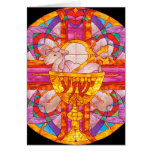 Lamb of God stained glass Greeting Card