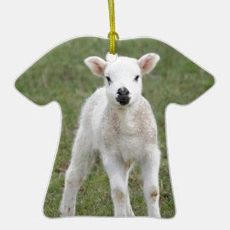 Lamb Double-Sided T-Shirt Ceramic Christmas Ornament