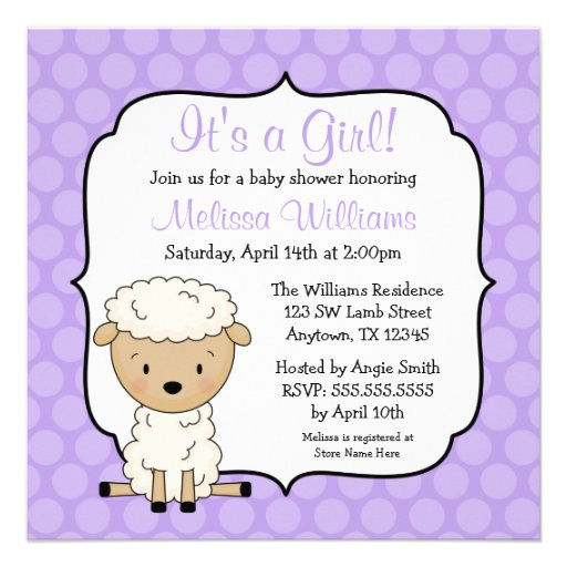 lamb baby shower invitations lamb baby shower announcements invites