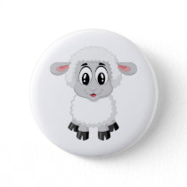 Lamb sheep cute farm animal baby button