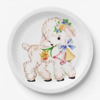 Lamb 9 Inch Paper Plate