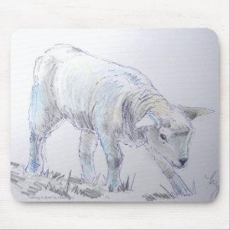 Lamb sketch drawing mouse pad