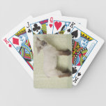 Lamb Standing Indoors, and Floral Wallpaper Bicycle Playing Cards