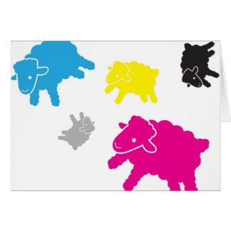 Lamb Starr Multicolor Blank Card