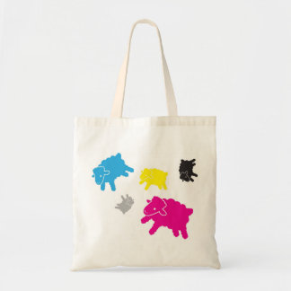 Lamb Starr Multicolor Tote Canvas Bags