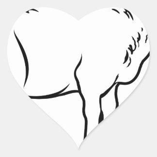 Lamb Heart Sticker