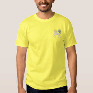 Lamb with Banner Embroidered T-Shirt