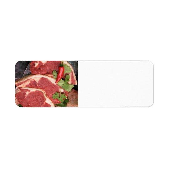 Lamb with chili label