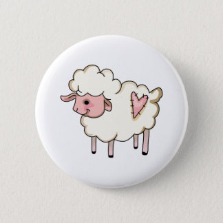 LAMB WITH HEART BUTTON