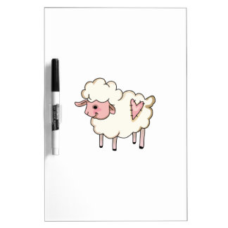 LAMB WITH HEART Dry-Erase BOARDS