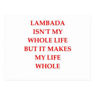 lambada postcard