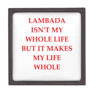 lambada premium keepsake box
