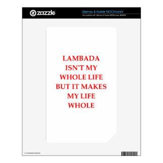 lambada skin for NOOK color