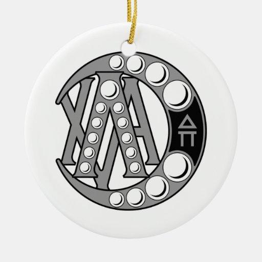 Lambda Chi Alpha Badge Double-Sided Ceramic Round Christmas Ornament