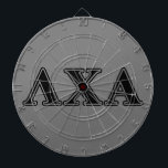 """Lambda Chi Alpha Black Letters Dart Board<br><div class=""""desc"""">Check out these official Lambda Chi Alpha designs! Personalize your own Greek merchandise on Zazzle.com! Click the Customize button to insert your own name, class year, or club to make a unique product. Try adding text using various fonts &amp; view a preview of your design! Zazzle&#39;s easy to customize products...</div>"""
