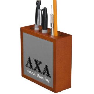 Lambda Chi Alpha Black Letters Desk Organizer