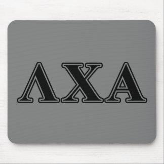 Lambda Chi Alpha Black Letters Mouse Pad