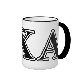 Lambda Chi Alpha Black Letters Ringer Mug