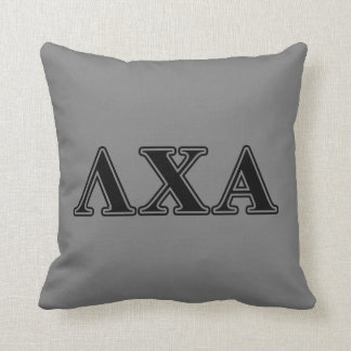 Lambda Chi Alpha Black Letters Throw Pillow
