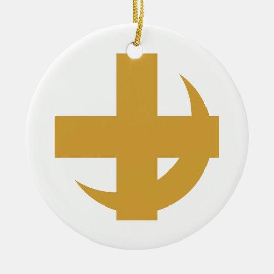 Lambda Chi Alpha Cross & Crescent Ceramic Ornament