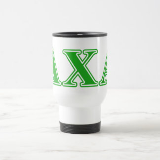 Lambda Chi Alpha Green Letters 15 Oz Stainless Steel Travel Mug