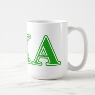 Lambda Chi Alpha Green Letters Coffee Mug