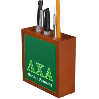 Lambda Chi Alpha Green Letters Desk Organizers