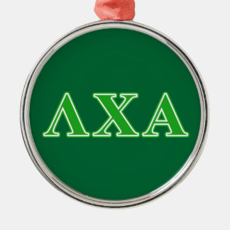 Lambda Chi Alpha Green Letters Metal Ornament