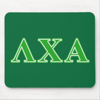 Lambda Chi Alpha Green Letters Mouse Pad