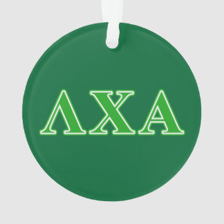 Lambda Chi Alpha Green Letters Ornament