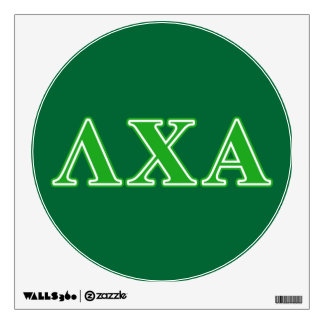 Lambda Chi Alpha Green Letters Wall Decal