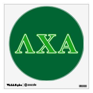 Lambda Chi Alpha Green Letters Wall Sticker