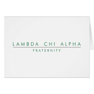 Lambda Chi Alpha Lock Up Card