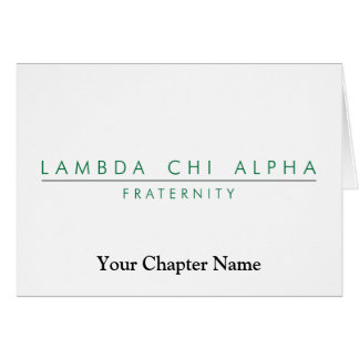 Lambda Chi Alpha Lock Up Card