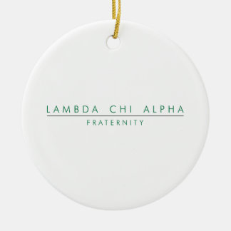 Lambda Chi Alpha Lock Up Ceramic Ornament