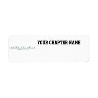 Lambda Chi Alpha Lock Up Label