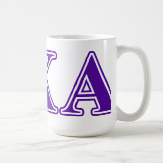 Lambda Chi Alpha Purple Letters Coffee Mug