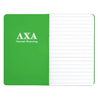 Lambda Chi Alpha White an Green Letters Journals