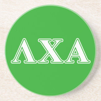 Lambda Chi Alpha White and Green Letters Coaster