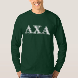 Lambda Chi Alpha White and Green Letters T-Shirt