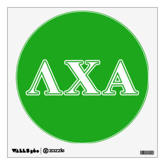 Lambda Chi Alpha White and Green Letters Wall Decal