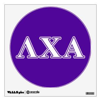 Lambda Chi Alpha White and Purple Letters Room Sticker