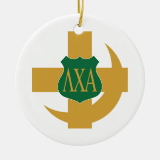 Lambda Chi Friendship Pin Ceramic Ornament