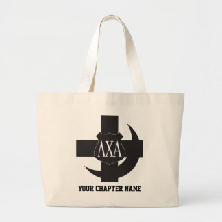Lambda Chi Friendship Pin Large Tote Bag