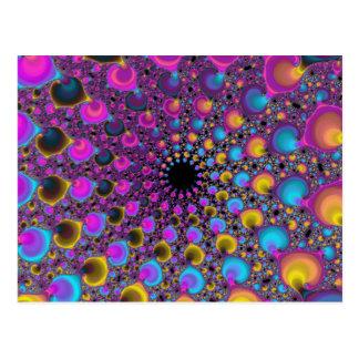 Lambda Fractal Spiral Postcard